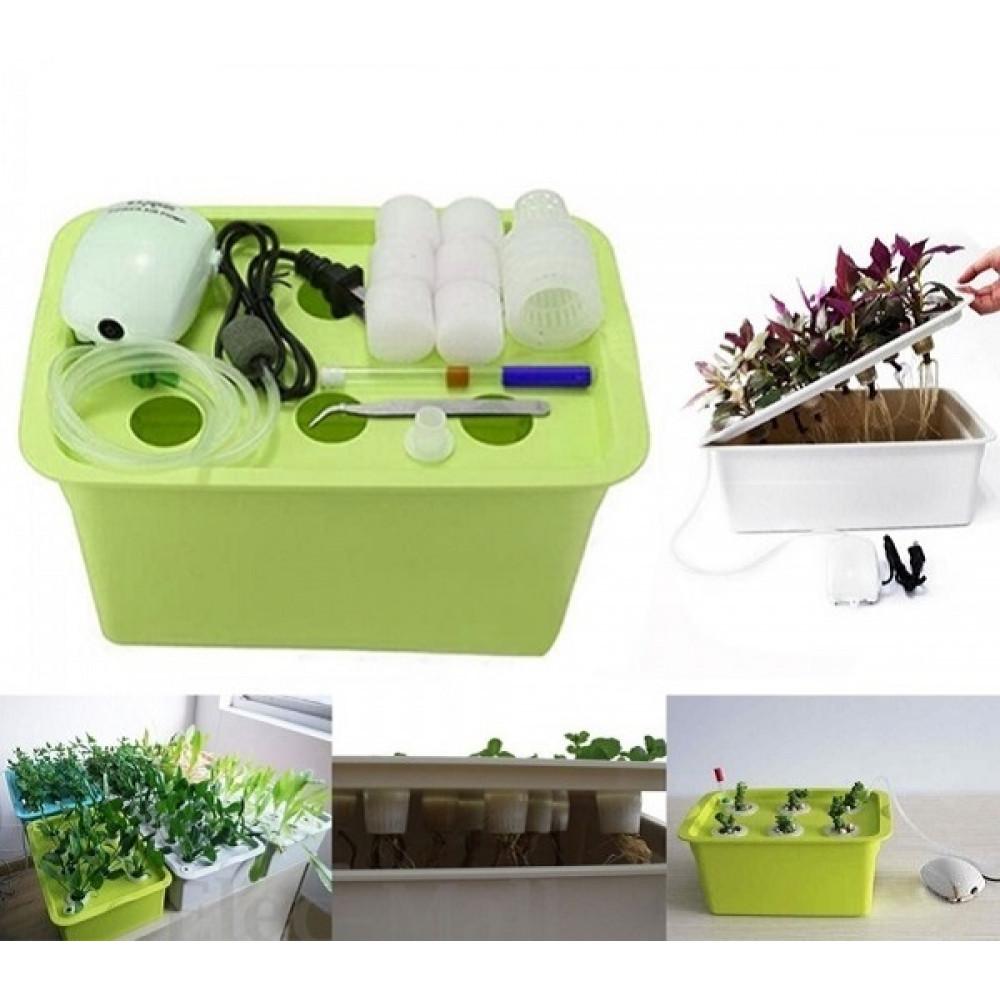 Система гидропоники для дома на 6 растений с таймером