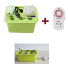 Гідропонна система для дому на 6 рослин з таймером