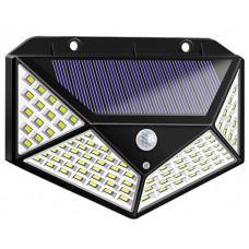 Світильник на сонячній батареї з датчиком руху вуличний настінний 100 LED