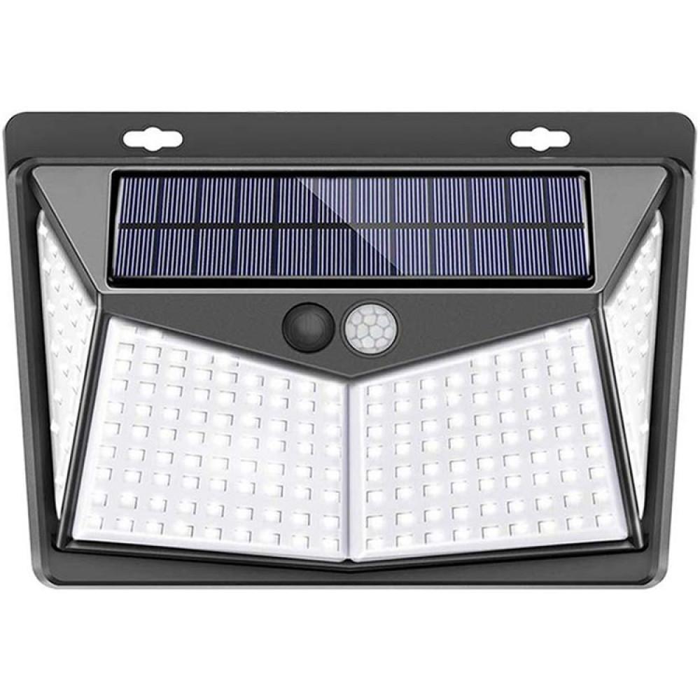 Світильник на сонячній батареї з датчиком руху настінний вуличний LED 208