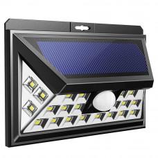 Світильник настінний на сонячній батареї з датчиком руху вуличний 24 LED