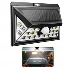 Світильник настінний на сонячній батареї з датчиком руху вуличний 24 LED 2 режими